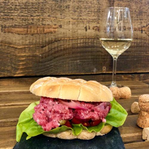 Sandwich Panino Tartare Vitium Pistoia